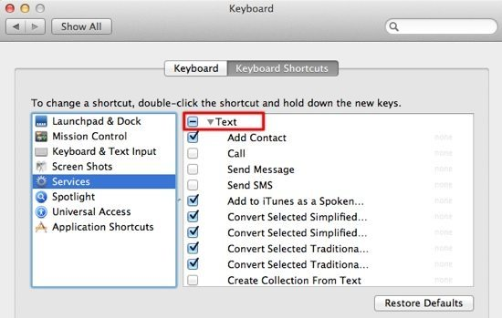 Pic 5 - Text Shortcuts