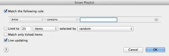 Blank Smart Playlist