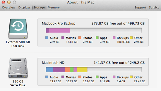how to get more space on mac