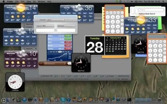 Dashboard Widgets image