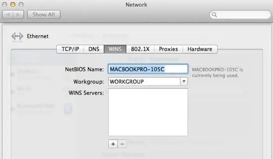 Mac NetBIOS Name