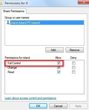 PC - Set Sharing Permissions