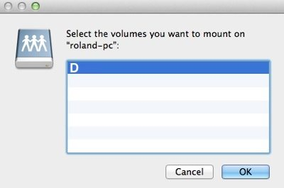Choose The Mount Folder