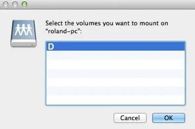 Choose The Mount Folder