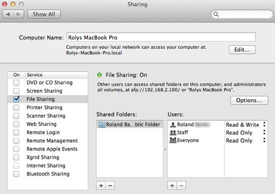How To Share Files & Folders Between the Mac and PC
