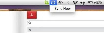 Sync Now Menubar Button