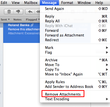 Remove attachments messages in Mail OS X