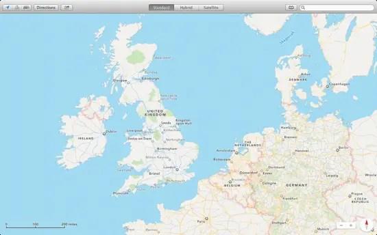 Maps default view