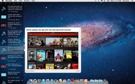 NewsBar Screenshot