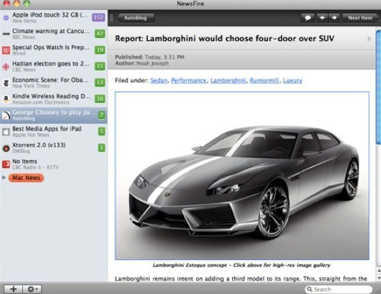 NewsFire Screenshot