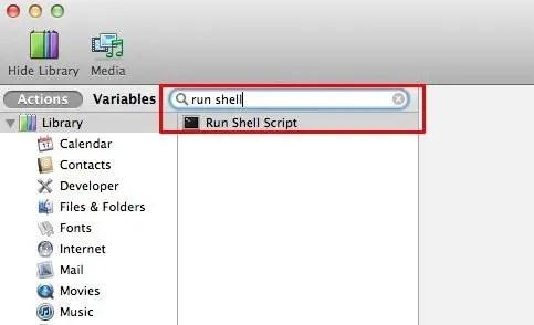 Find Run Shell Script