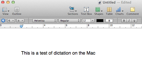 Dictation results