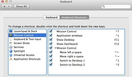 View Shortcuts