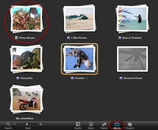 iPhoto Photo Stream Album