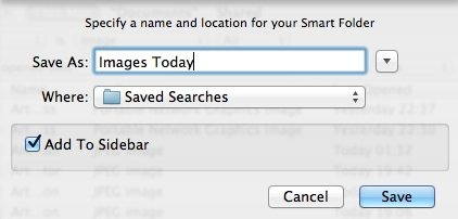 Save a smart folder screenshot