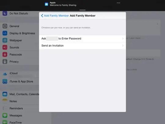 Family Sharing iOS - step 10