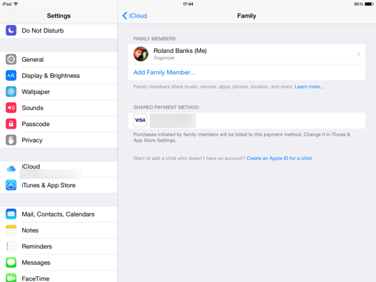 Family Sharing iOS - step 8