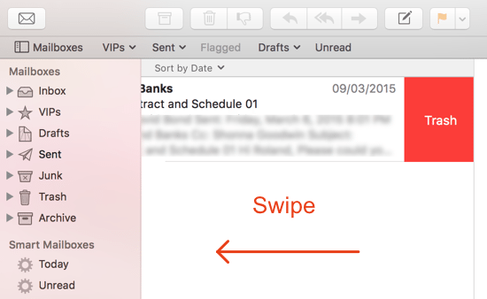 Image 1 - Mail - Swipe to Delete