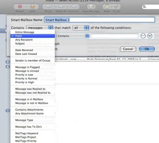 Choosing parameters Smart Mailboxes