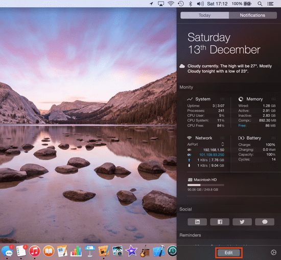 Today Extensions - Notification Drawer