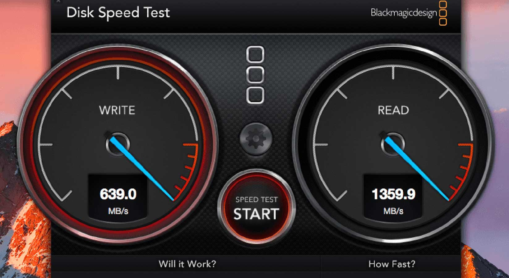 test my ssd speed mac