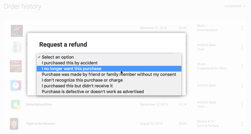 Buyer's remorse? Get a refund from the App Store, Google