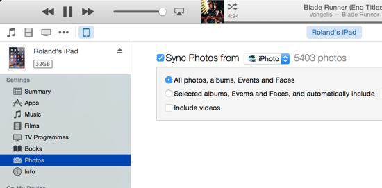 iOS 8 Upgrade - Sync Photos