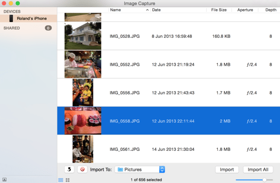 iOS 8 Upgrade - Image Capture Import