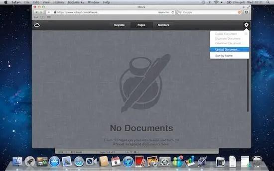iCloud upload file