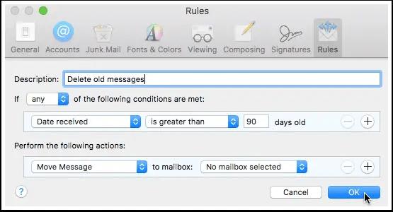mailbox rule