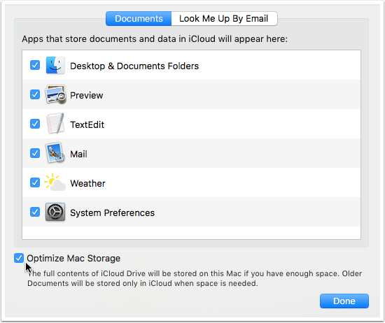 optimise mac storage