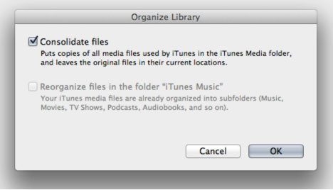 Organize Library iTunes