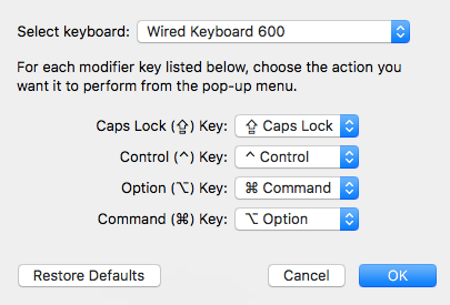 Using a Windows keyboard on your Mac: Remapping the Command