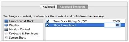Shortcut Input