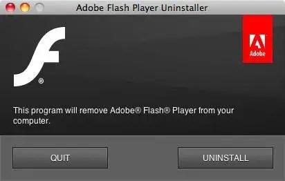 uninstall flash
