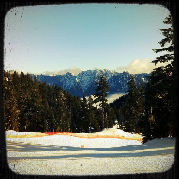 Cypress Mountain bluebird day photo
