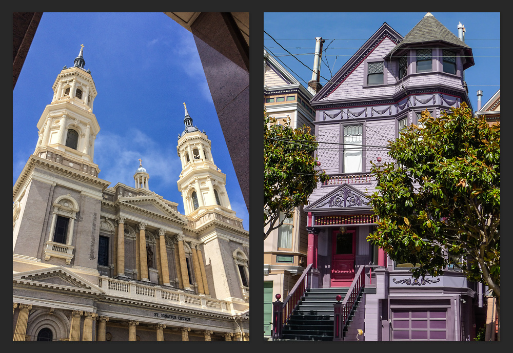 The buildings and houses in San Francisco; this was just a few blocks away from Golden Gate Park in the University District.