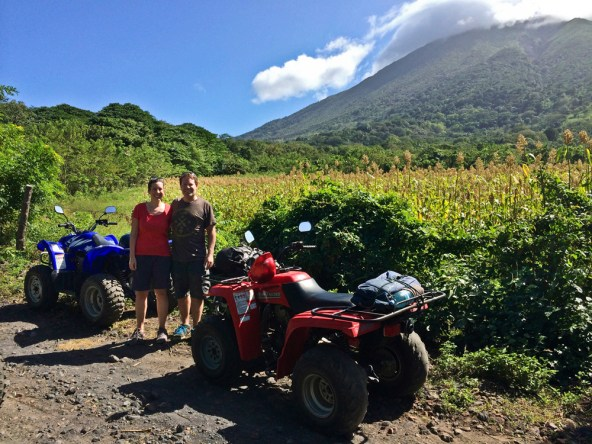 Touring the Ometepe Island countryside's back roads on ATV's was definitely the best thing we did on the trip. Here we went around the backside of the Concepción Volcano on our way over to the east side of the island to find some ancient petroglyphs.
