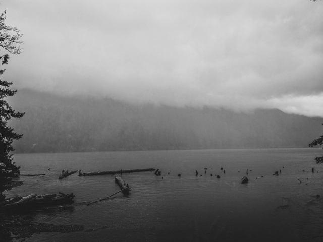 A super foggy and rainy day at Chilliwack Lake.