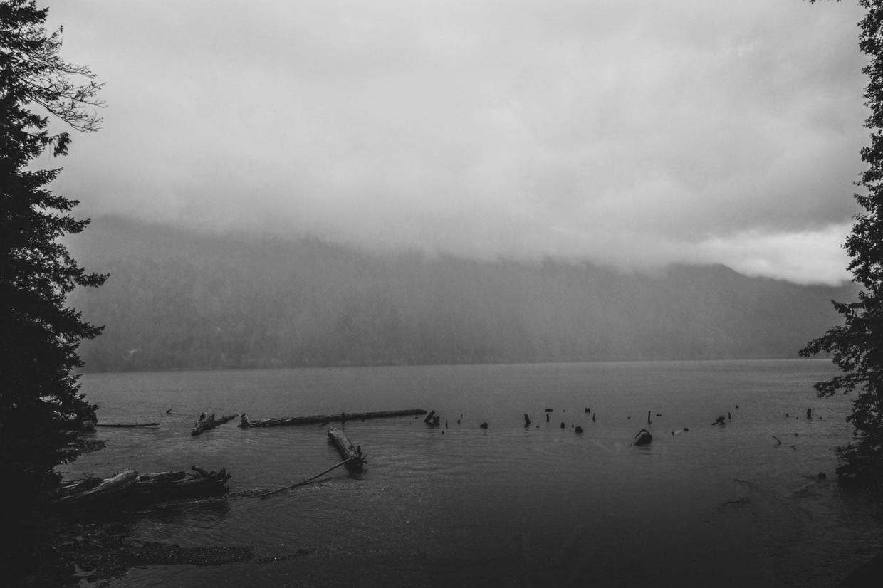 A super foggy and rainy day at Chilliwack Lake.