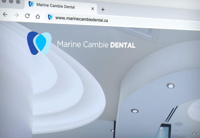 Marine Cambie Dental logo on website