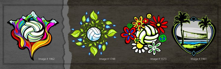 Seasonal Volleyball Designs