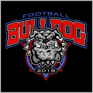 Bulldog Football Design
