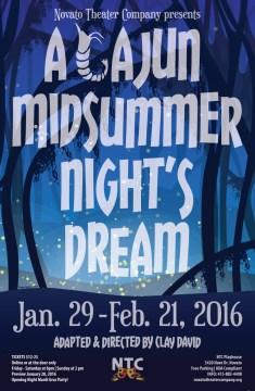 A Cajun Midsummer Night's Dream Poster - Novato Theatre Company