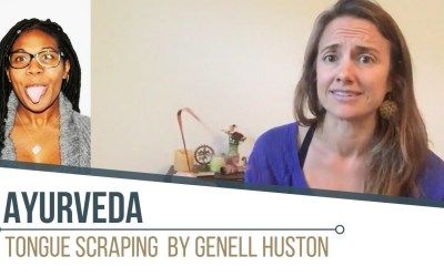 Ayurvedic Tip From Genell Huston: Tongue Scraping Detox
