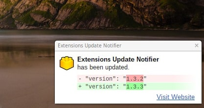 chrome extensions  Extensions Update Notifier Will Tell You When Your Chrome Extensions Are Updated