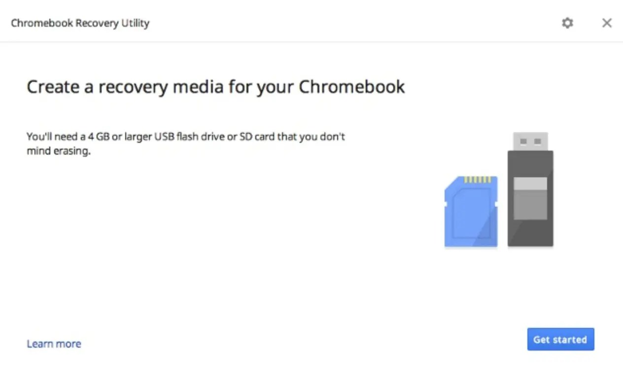 Create recovery media for your Chromebook