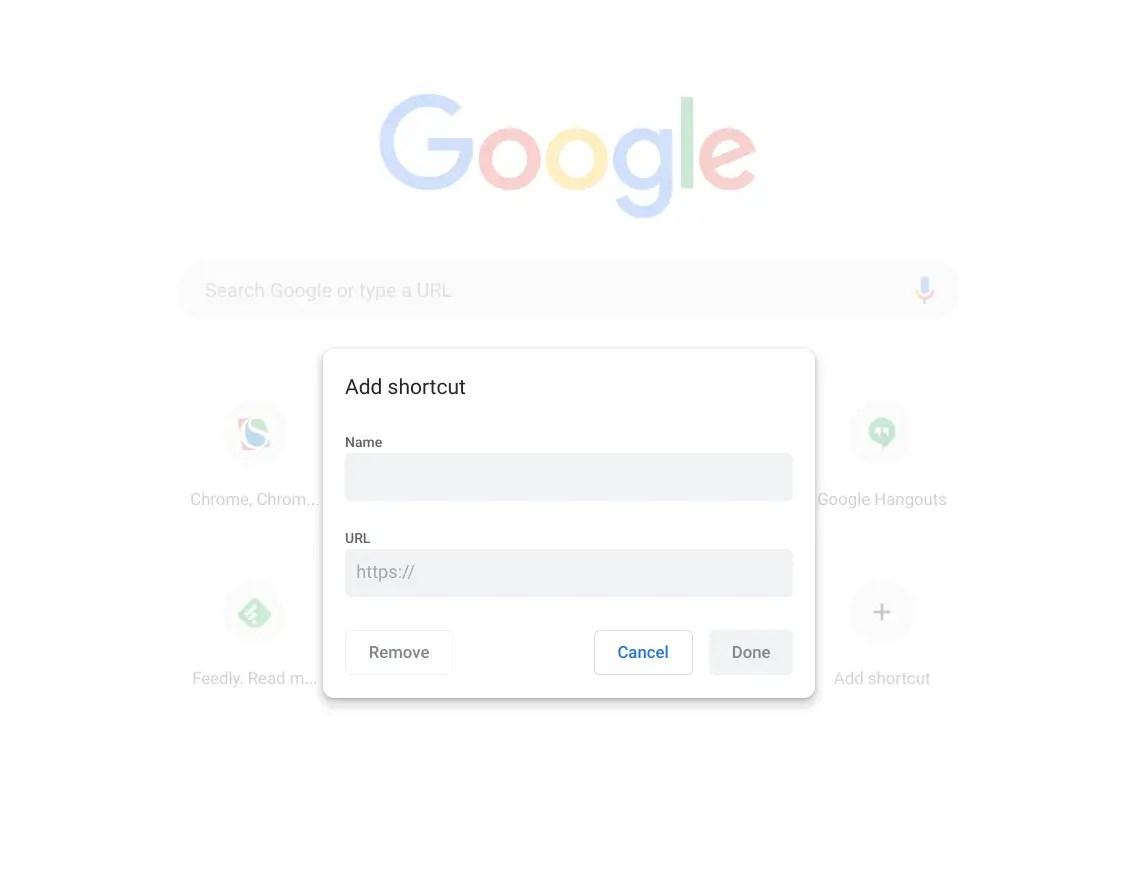 Add a shortcut