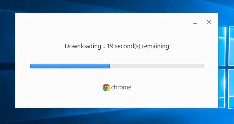 Google Chrome is downloading