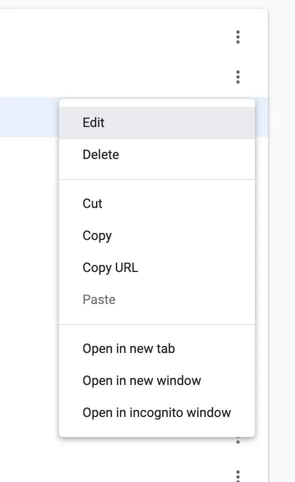 """Choose """"Edit"""""""